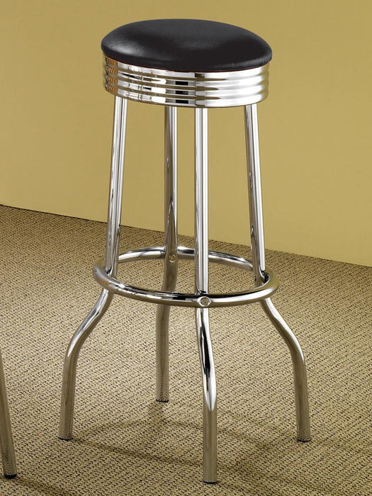 Cleveland Chrome Soda Fountain Bar Stool image