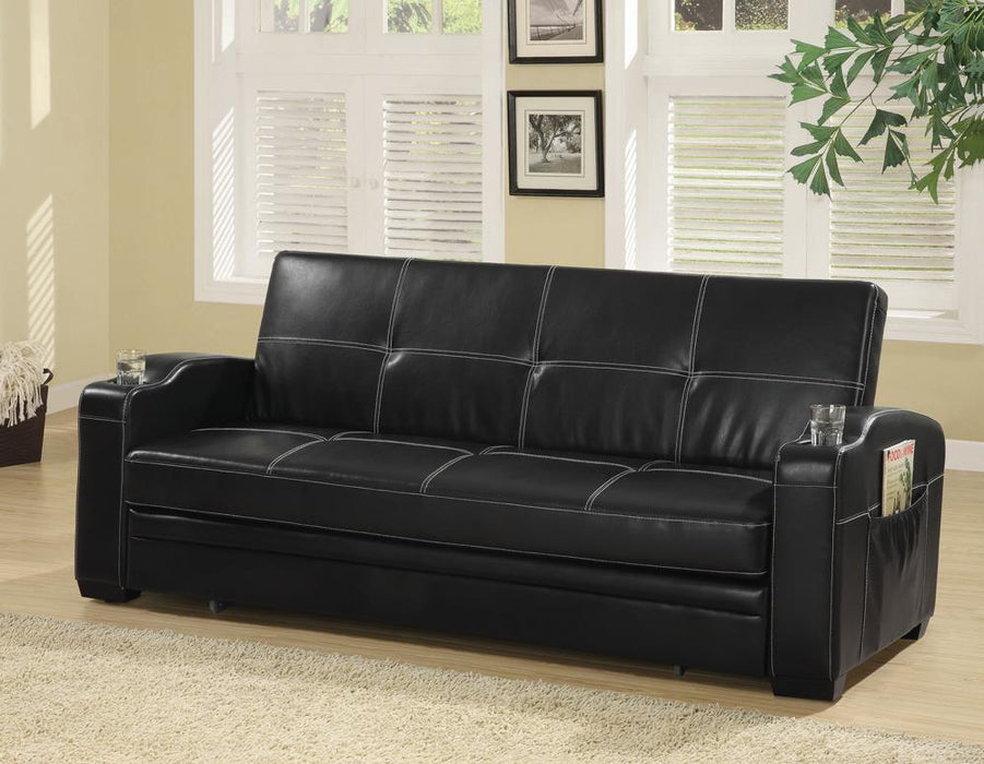 G300122 Contemporary Black Sofa Bed image