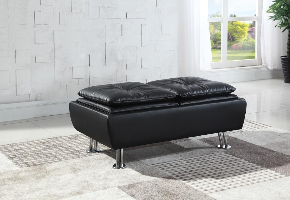 Dilleston Contemporary Black Ottoman image