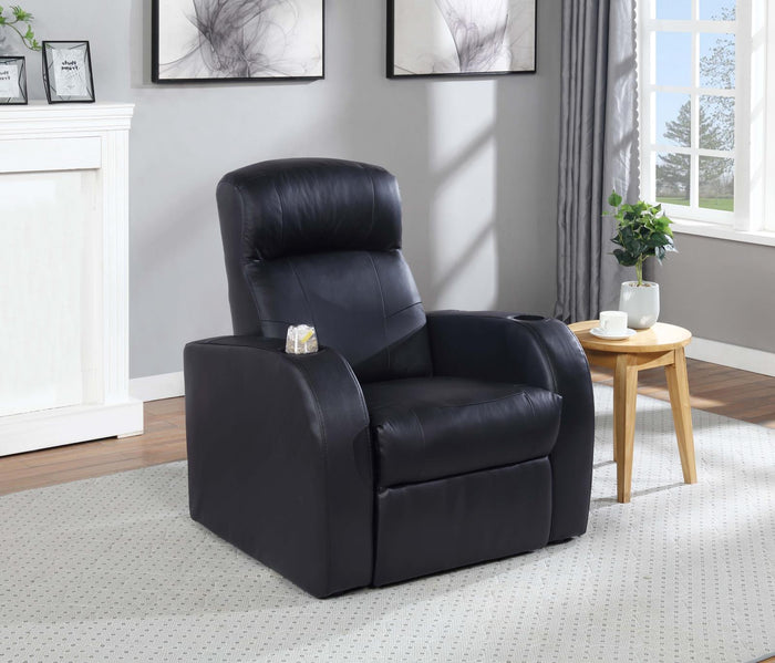 Cyrus Home Theater Black Recliner image
