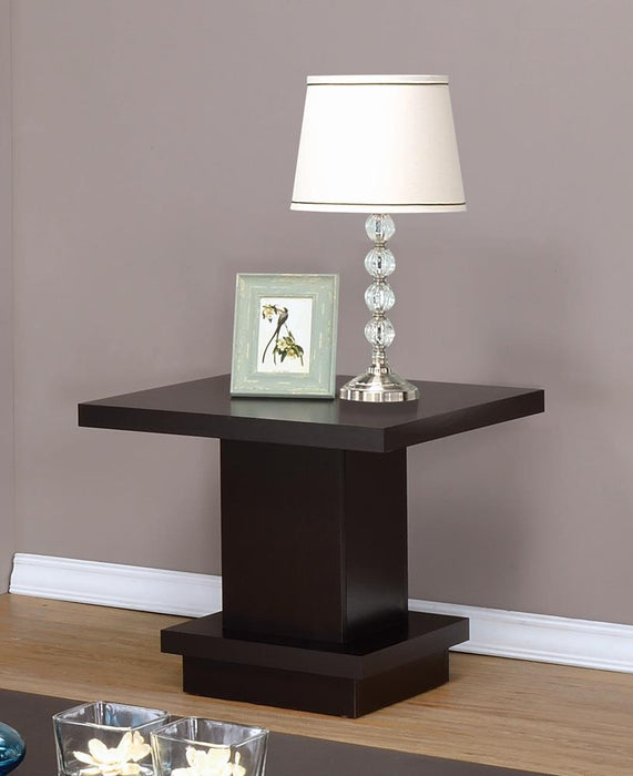 Cappuccino Wood Top Side Table image