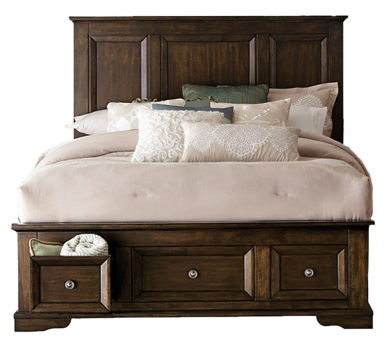 Homelegance Eunice Queen Platform Bed with Footboard Storage in Espresso 1844DC-1* image