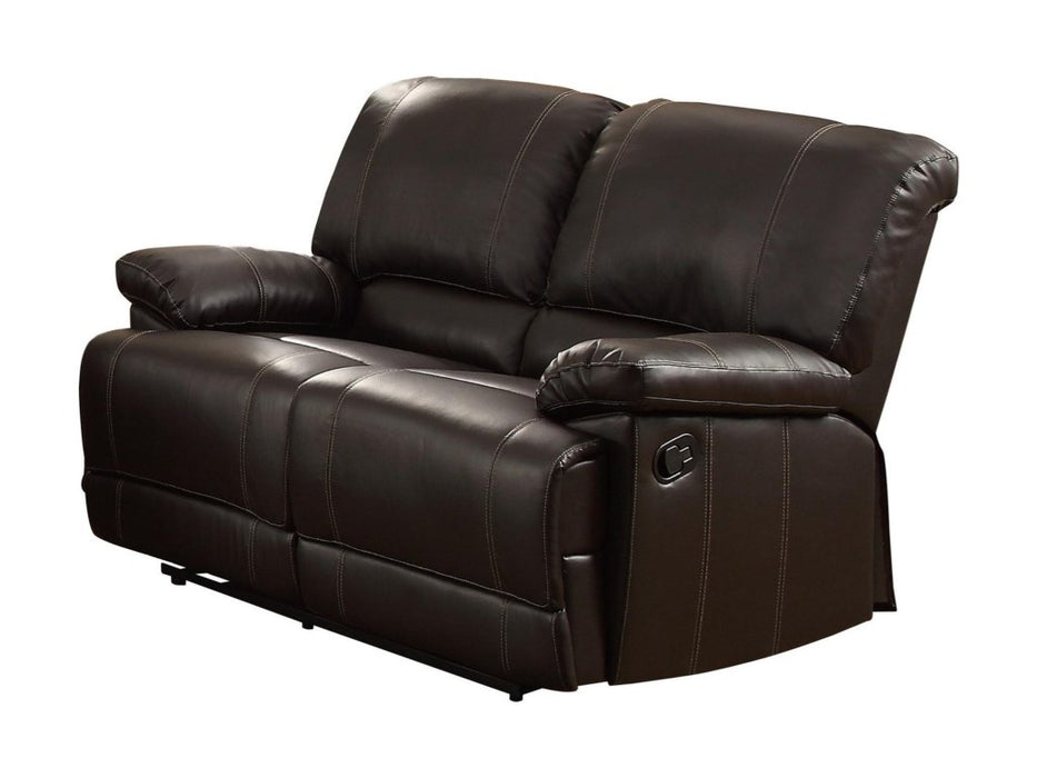 Homelegance Furniture Cassville Double Reclining Loveseat in Dark Brown 8403-2 image
