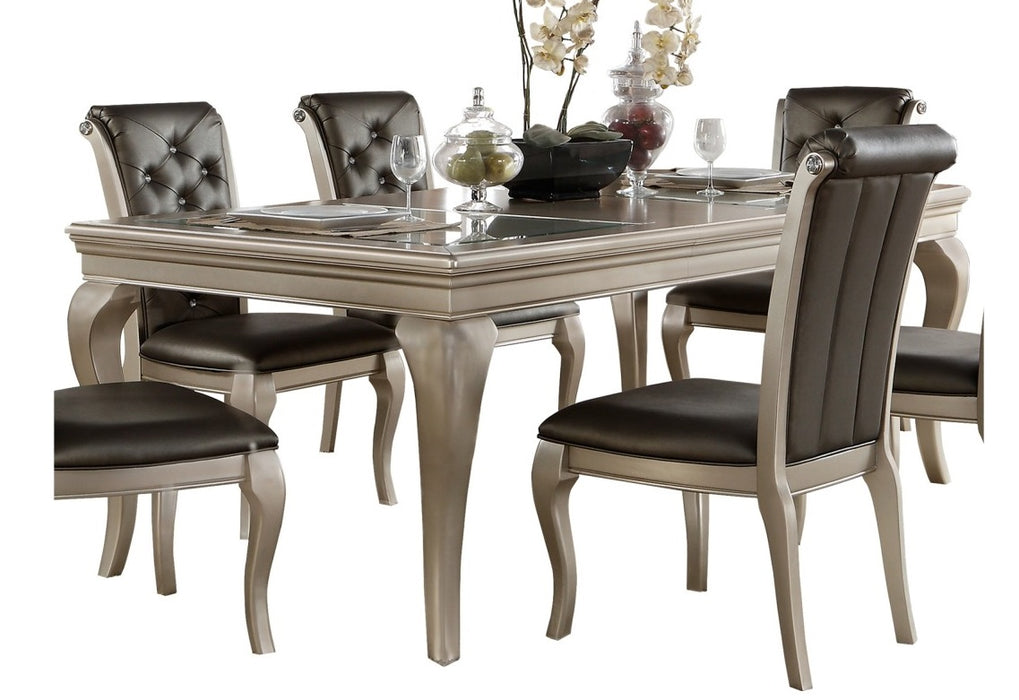 Homelegance Crawford Dining Table in Silver 5546-84 image