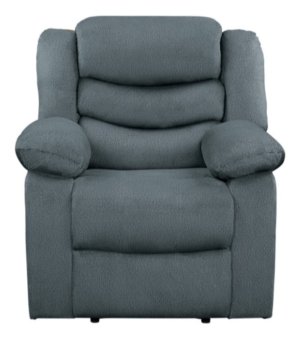 Homelegance Furniture Discus Double Reclining Chair in Gray 9526GY-1 image