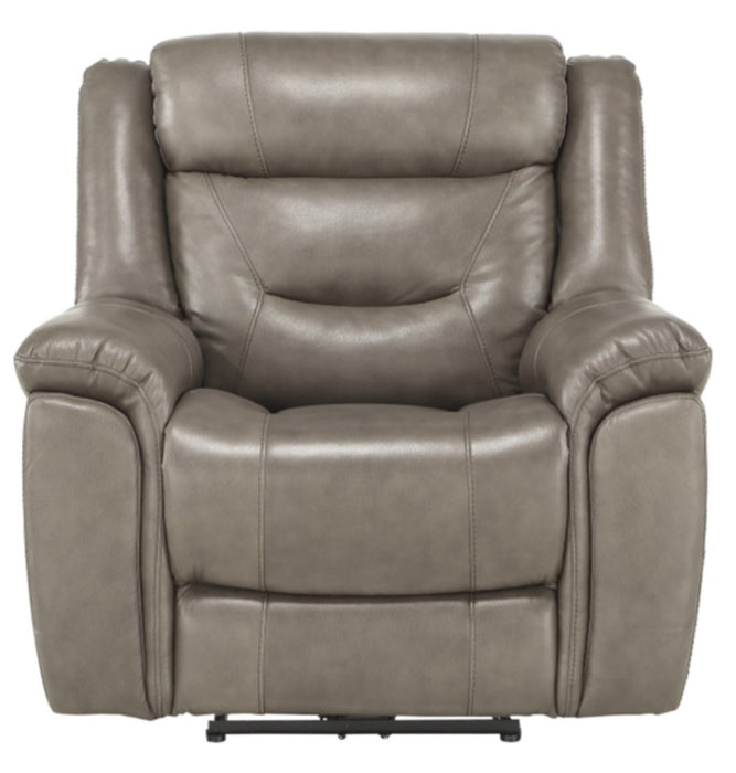 Homelegance Furniture Danio Power Double Reclining Chair with Power Headrests in Brownish Gray 9528BRG-1PWH image