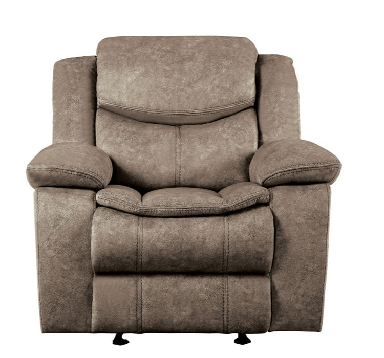 Homelegance Furniture Bastrop Glider Reclining Chair in Brown 8230FBR-1 image