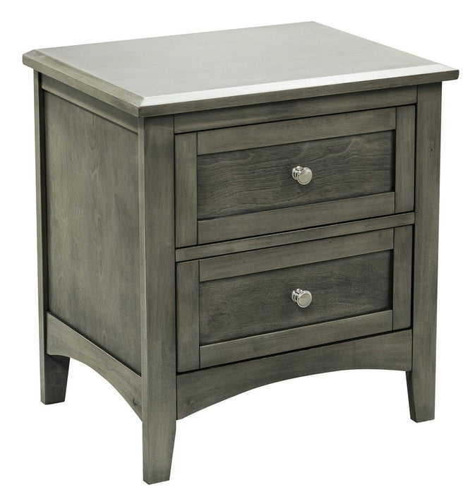 Homelegance Furniture Garcia 2 Drawer Nightstand in Gray 2046-4 image