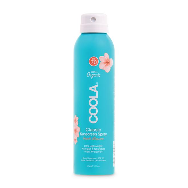Coola - Classic Body Organic Sunscreen Spray SPF 70: Peach Blossom 6 fl oz/ 177 ml
