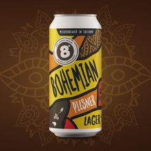 Load image into Gallery viewer, 8 Degrees Bohemian Pilsner Lager 4% ABV 440ml can
