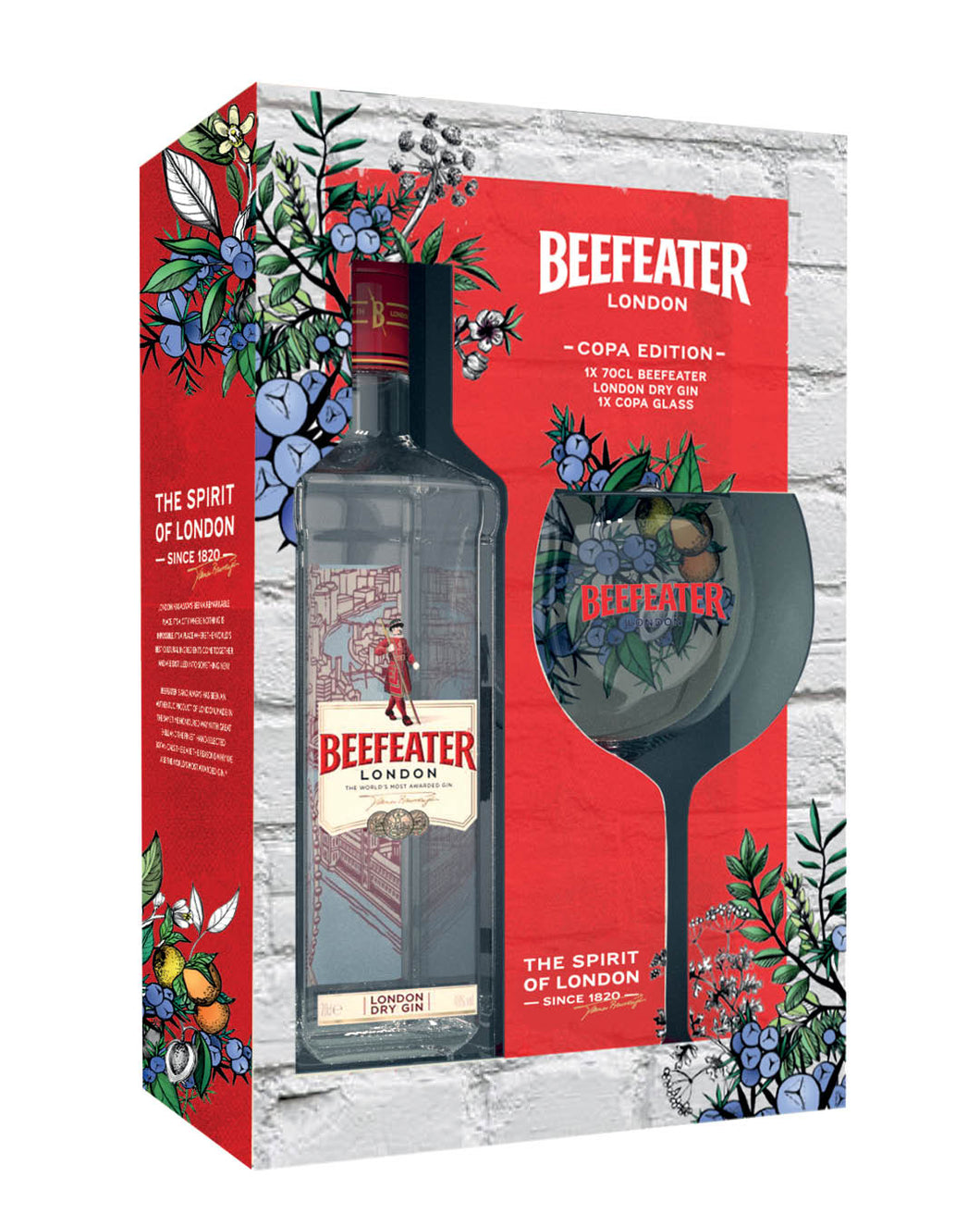 Beefeater Gin 700ml & Balloon Glass 40% NI