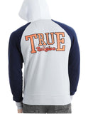 True Religion Men's Mesh Active Raglan Zip Up Hoodie