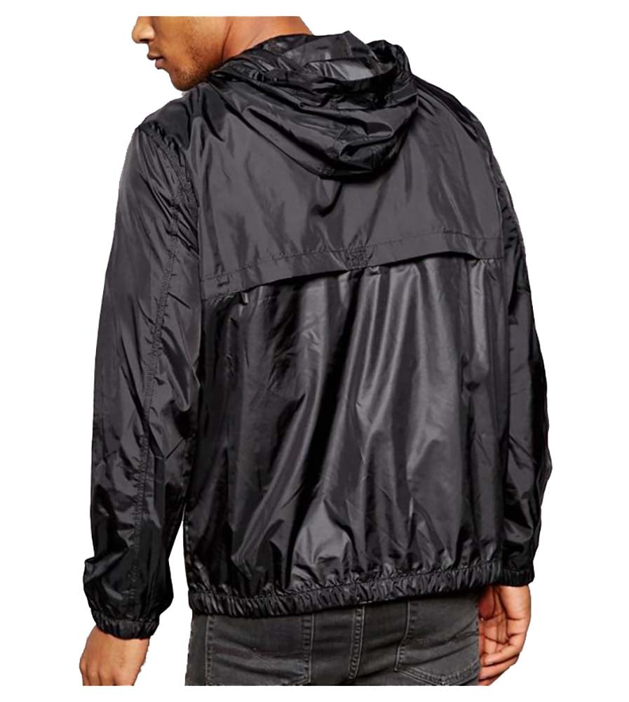 Converse Men's Packable Core Patch Windbreaker-Black