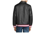 True Religion Men's Chenille Vegan Leather Jacket-Black