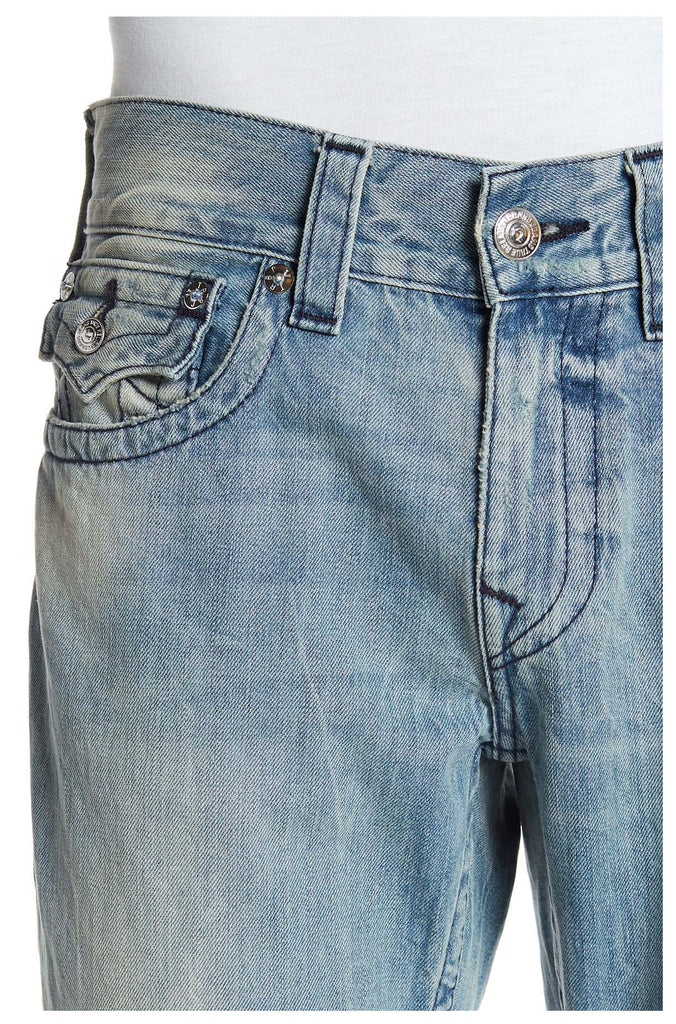 True Religion Men's Straight With Flap SN Midnight Jeans