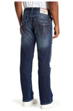 True Religion Men's Straight Flap Stretch Jeans-Burning Rocks