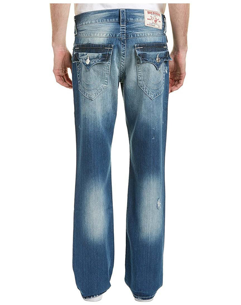 True Religion Men's Straight With Flap Jeans