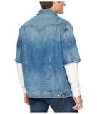 True Religion Men's Short Sleeve Denim Turner Jacket-Westminster