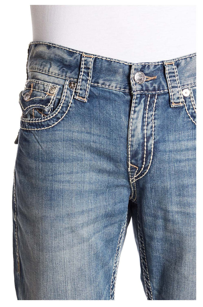 True Religion Men's Straight Flap Big T Denim Jeans