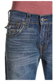 True Religion Men's Skinny Flap Fossil Silk Big T Jeans-Desperado Ride