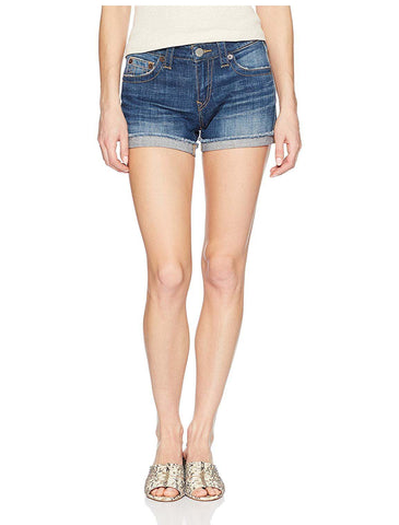 True Religion Women's Jennie Curvy Denim Shorts-Gen Z