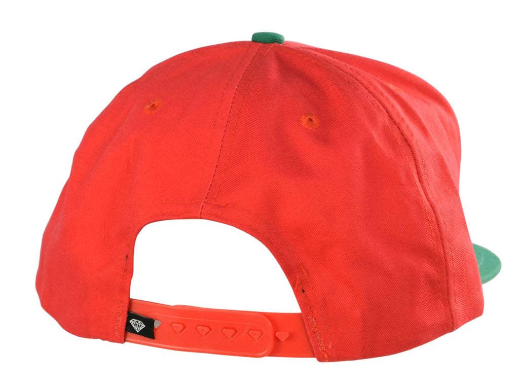 Diamond Supply Co. Rock Logo Snapback Hat Cap-Green/Red