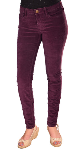 True Religion Brand Jeans Women's Halle Skinny Stretch Velvet Pants