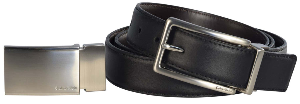 Calvin Klein Men's Signature Logo Reversible 4 in 1 Belt-Brown (30-42)
