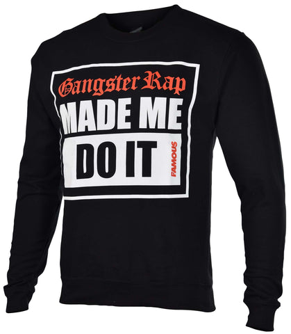 Famous Stars And Straps Men's G-Rap Crewneck Sweatshirt-Black
