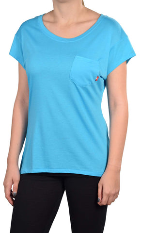 Nike Women's Polyester Organic Cotton Pocket T-Shirt