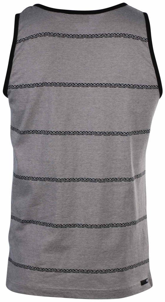 Vans Men's Wylie Striped Tank Top-Gray