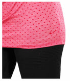 Nike Women's Dri-Fit Club Boyfriend Dot Training Shirt-Brick Red