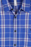 Adidas Men's Neo Plaid Check Button Down Shirt-Blue
