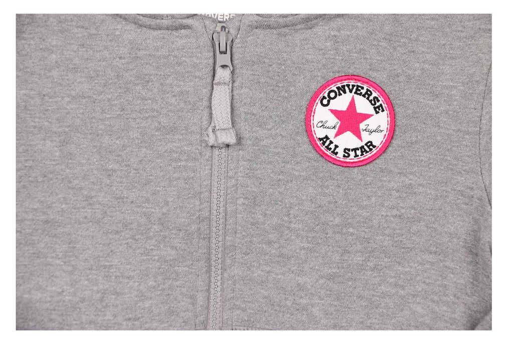 Converse Big Girls' (7-16) Chuck Taylor Patch Full Zip Hoodie
