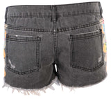Element Juniors Storm Cut Off Denim Shorts-Off black