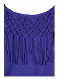 Billabong Juniors Tempting Fate Fringe Dress-Royal Purple