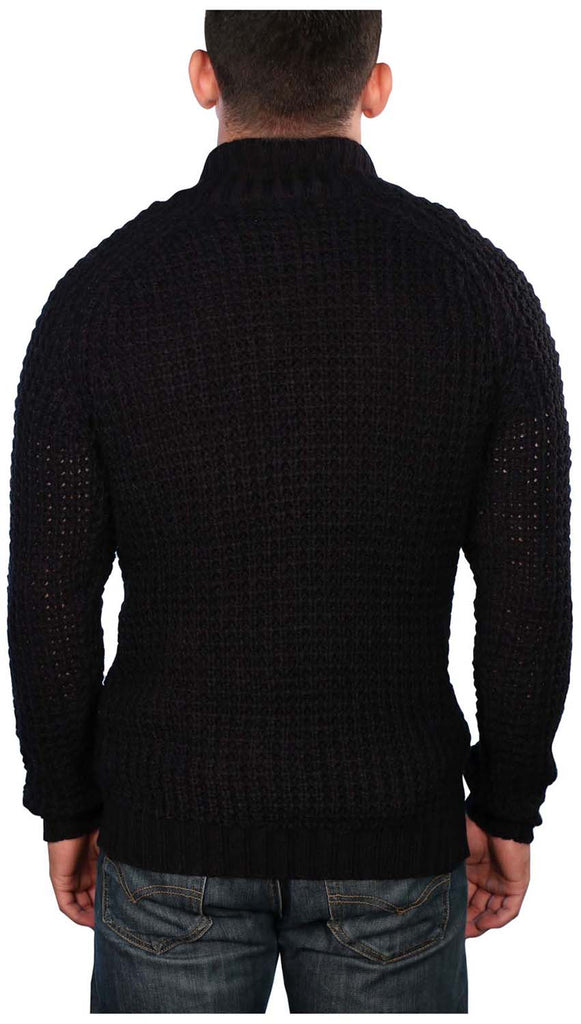 True Rock Men's Toggle Cardigan Knit Sweater
