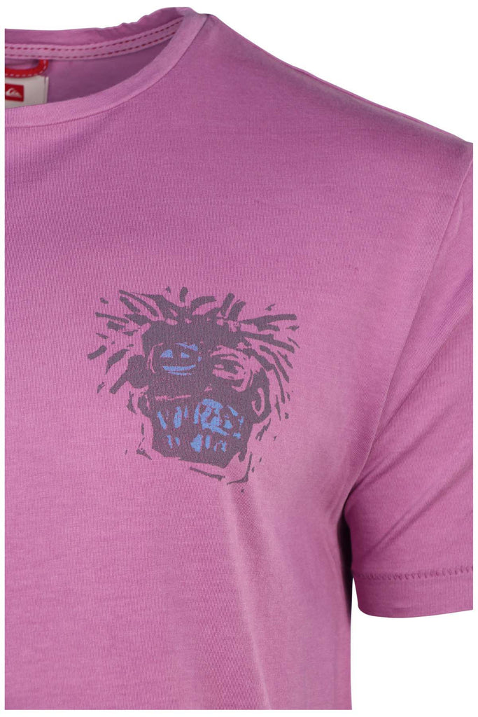 Quiksilver Men's Head Graphic T-Shirt-Orchid
