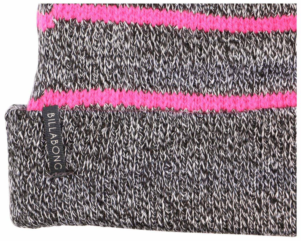Billabong Women's Marbled With Stripes Beanie-Gray/Pink