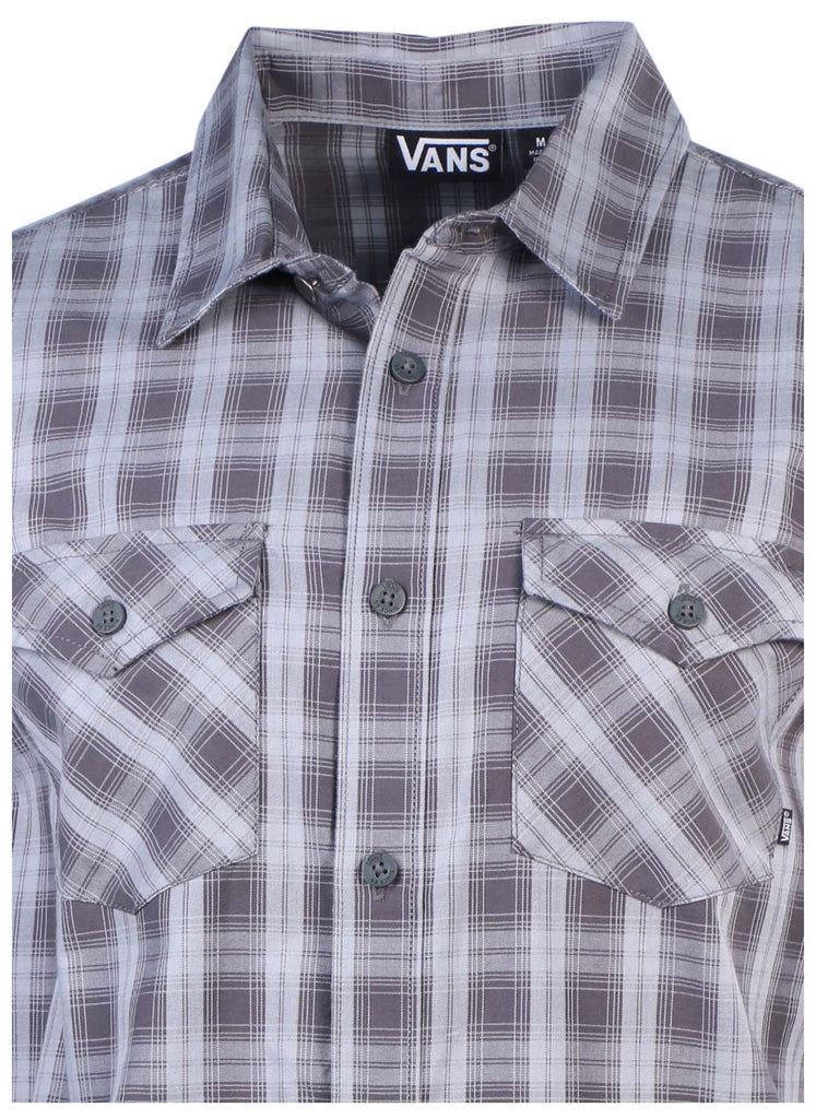 Vans Men's Mini Moss Plaid Long Sleeve Shirt