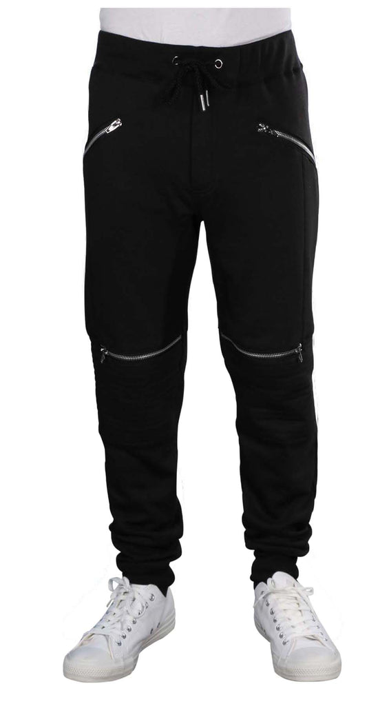 Indigo People Men's Zippered Jogger Sweat Pants