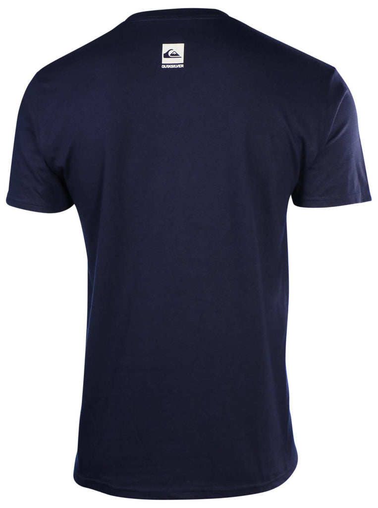Quiksilver Men's Mountain Wave Graphic T-Shirt-Navy