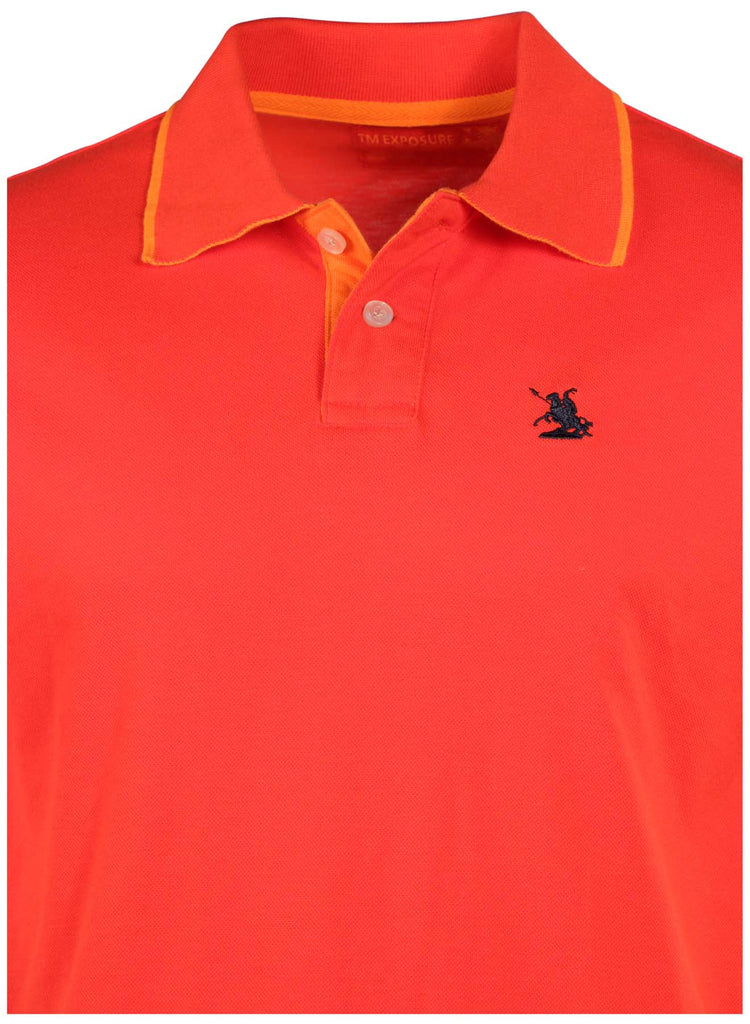 TM Exposure Men's Color Contrast Polo Shirt
