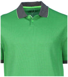 Nike Men's TR Dry Tipped Golf Polo Shirt-Lucid Green/Heather Gray