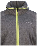 Columbia Men's Snyder Lake Full Zip Hoodie-Dark Heathergray/Yellow