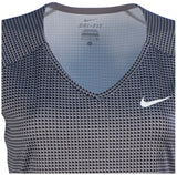 Nike Women's Printed Pure Short Sleeve Shirt-Gray/Black