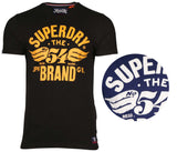 Superdry Men's 54 Brand Cold Dye Distressed T-Shirt