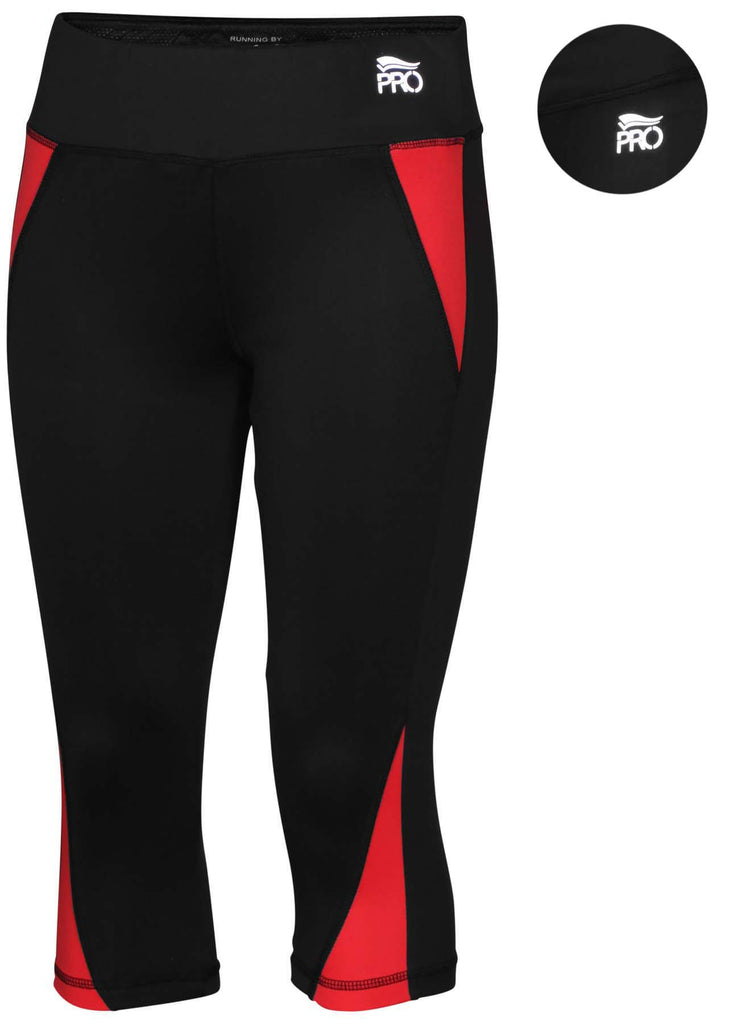 Crivit Pro Women's Performance Running Capri Pants Tights Leggings