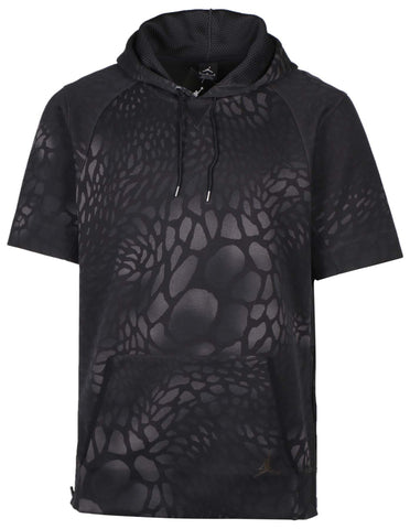 Jordan Men's Nike Air Jordan Black Cat S/S Hoodie-Black