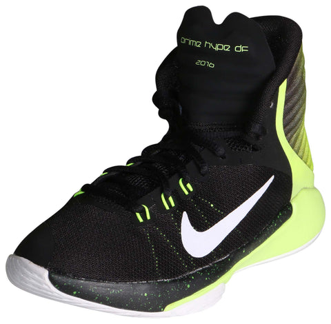 Nike Kids Flex Experience 4 (GS) Running Shoe-Black/White/Volt